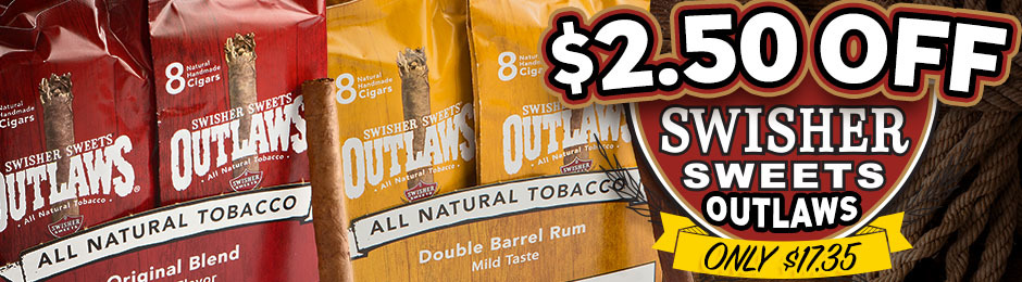 This Week Only, Get $2.50 Off Swisher Sweets Outlaws & Pay Only $17.35!