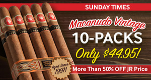 Sunday Times: One-Day Offers On Your Favorite Premium Cigars!