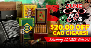 June CAO Chaos! Get $20.00 Off Select CAO Cigars!