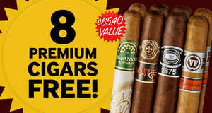 8 Premium Cigars Free With Select Box Of Montecristo Cigars!