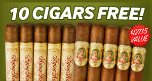 10 Cigars Free With Select Boxes Of Aging Room, Oliveros, & La Boheme!