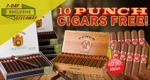 7-Day Exclusive Giveaway: Get 10 Punch Cigars Free With Select Boxes Of Punch Cigars!