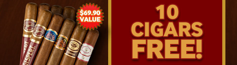 10 Premium Cigars Free With Select Boxes Of Romeo y Julieta Cigars!