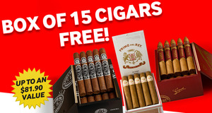 Free Box Of 15 Cigars With Select Boxes Of Montecristo Cigars!