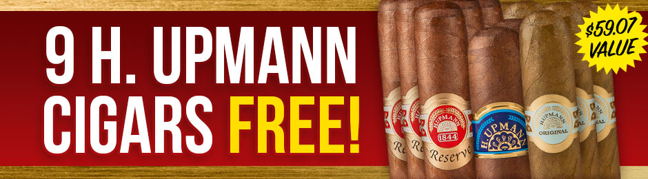 9 Free H. Upmann Cigars With Select Boxes of Upmann Cigars!
