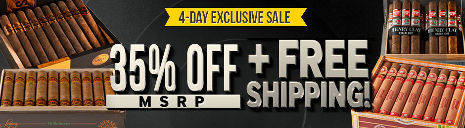 4-Day Exclusive Sale 35% Off Upmann, Henry Clay, & Gispert + Free Shipping!