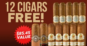 12 Free Cigars with Select H. Upmann Boxes!