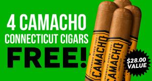 4 Free Camacho Robustos with Select Camacho Boxes!