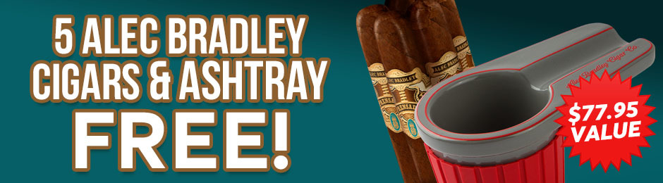 Alec Bradley Ashtray & 5-Pack Free With Select Alec Bradley Boxes!