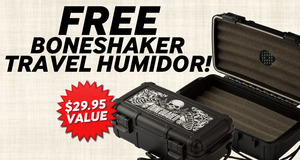 Free Travel Humidor With Select Boneshaker Boxes!