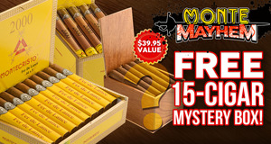 Take Part In Monte Mayhem & Get A Free 15-Count Mystery Box With Any Box Of Montecristo 2000!