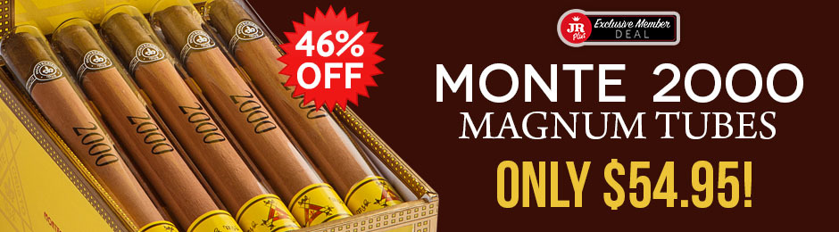 JR Plus Members Get A Box Of Monte 2000 Magnum Tubes For Just $54.95 & Save Over $30.00 + Free Shipping!