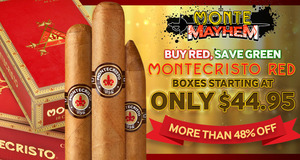 Montecristo Red Boxes Priced From Only $44.95 To $69.95!