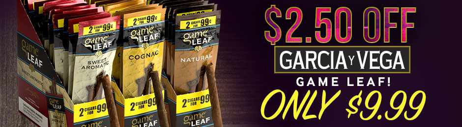This Week Only, Get $2.00 Off Garcia y Vega Game Leaf!