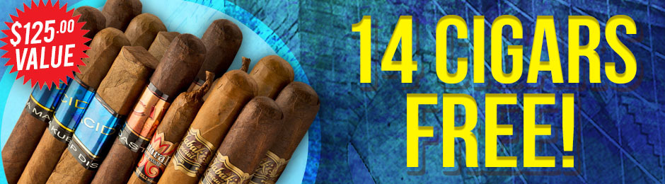 14 Cigars Free With Select Drew Estate Boxes!