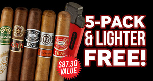 Free 5-Pack & Lighter With Select Romeo y Julieta Boxes!