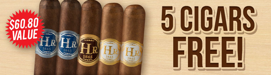 H.R. 5-Cigar Assortment Free With Select H.R. Boxes!