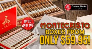 JR Plus Exclusive Member Deal! Save Up To 48% On Select Boxes Of Montecristo + Free Shipping!