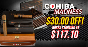 Cohiba Madness! This Month, Save $30.00 On Select Boxes Of Cohiba Cigars!