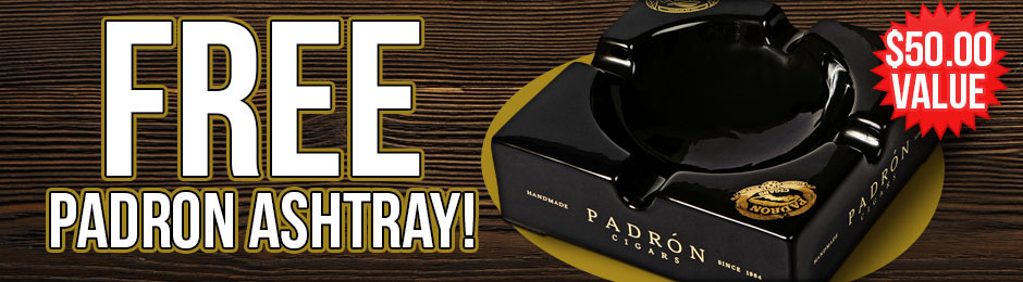 Free Padron Ashtray With Select Padron Boxes!