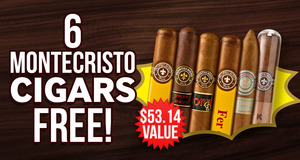 6 Montecristos Free With Select Montecristo Boxes!