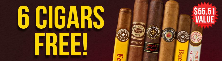 6-Pack Free With Select Montecristo Boxes