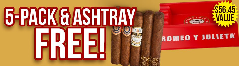 5-Pack & Ashtray Free With Select Romeo y Julieta Boxes!