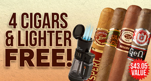 4-Pack & Lighter Free With Select H. Upmann Boxes!