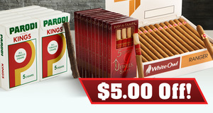 $5.00 Off Select Parodi, Hav-A-Tampa & White Owl Units!