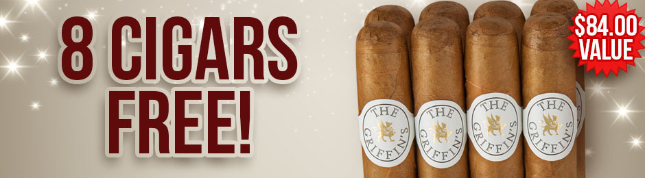 8 The Griffin's Robustos Free With Select Box Purchase of The Griffin's!