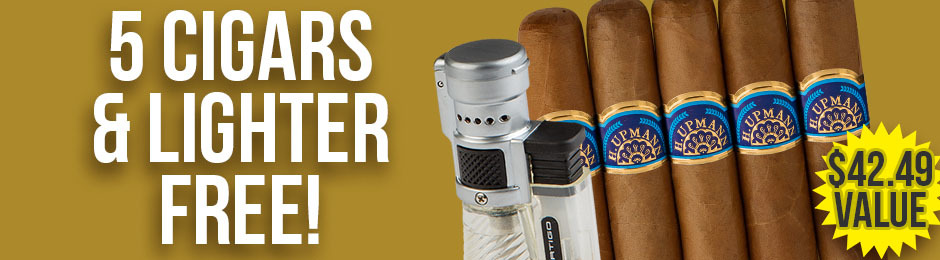 5-Pack & Lighter Free With Select H. Upmann Boxes!