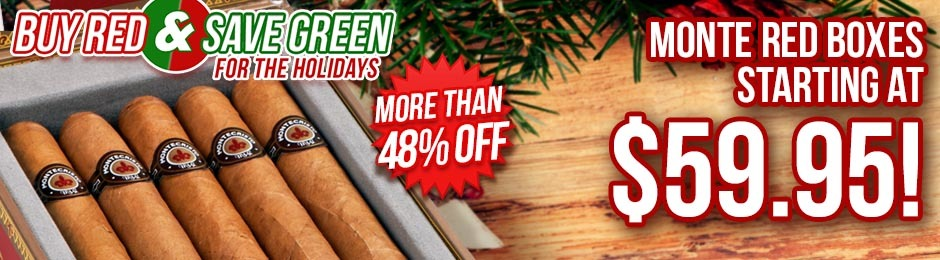 Buy Some Red & Save Some Green On Select Montecristo Red Boxes Starting At Just $59.95!
