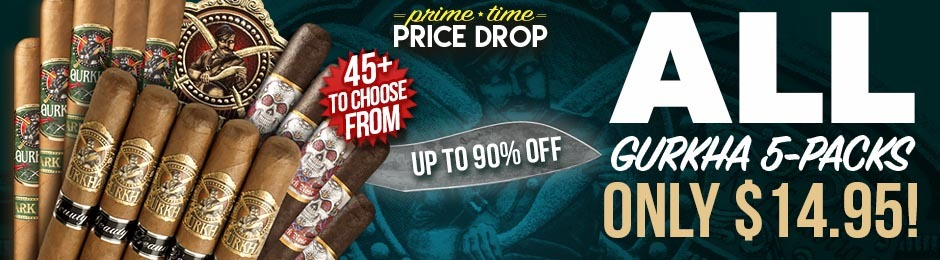 Prime Time Price Drop! For 12 Hours Only, All Gurkha 5-Packs Have Been Reduced To Just $14.95!