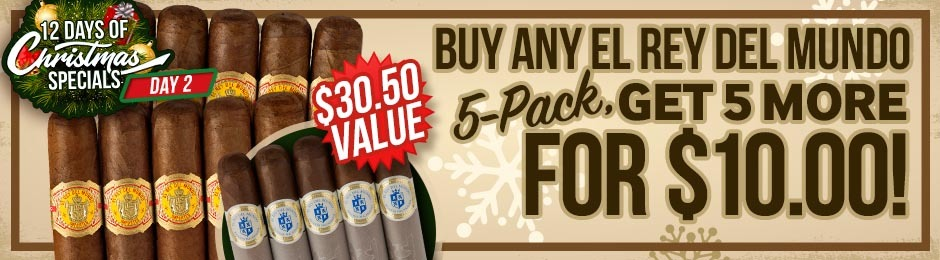 12 Days Of Christmas Specials Day 2: Buy An El Rey del Mundo 5-Pack, Get 5 More For Only $10.00!