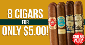 8-Cigar Assortment Only $5.00 With Select Premium Handmade Boxes!
