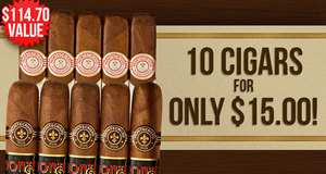 10 Montecristos For Only $15.00 With Select Montecristo Boxes!