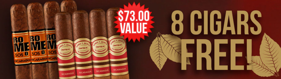 8 Romeos Free With Select Romeo y Julieta Boxes!