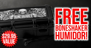 Free Boneshaker Travel Humidor With Boneshaker Boxes!