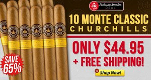JR Plus Members Get 10 Monte Churchills For Only $44.95 + Free Shipping!