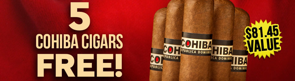 5 Cohiba Dominican Robustos Free With Select Cohiba Boxes