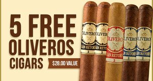 5 Oliveros Free With Select Oliveros Boxes!