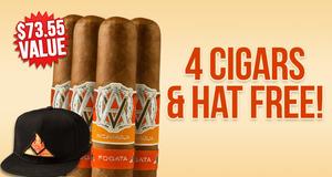 4 Cigars & Hat Free