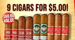 9 Cigars for $5.00!