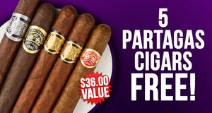 5 Partagas Cigars Free