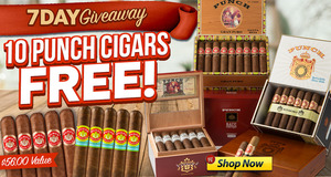 For 7 Days, Get A Free Punch 10-Pack With Any Box Of Punch Cigars!
