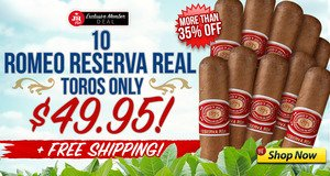 JR Plus Members Get 10 Romeo Reserva Real Toros For Only $49.95 + Free Shipping!