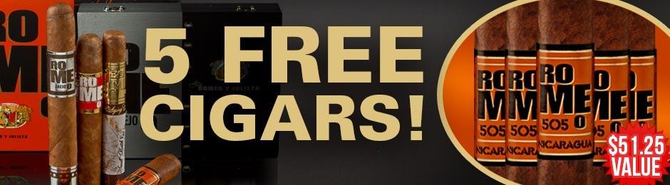 5 Romeo 505 Nicaragua Toros Free With Select Romeo Boxes!