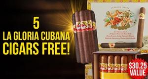 5 La Gloria Cubanas Free With Select La Gloria Cubana Boxes!