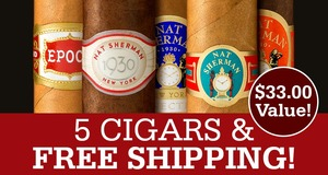 5-Pack & Shipping Free With Select Nat Sherman Boxes!
