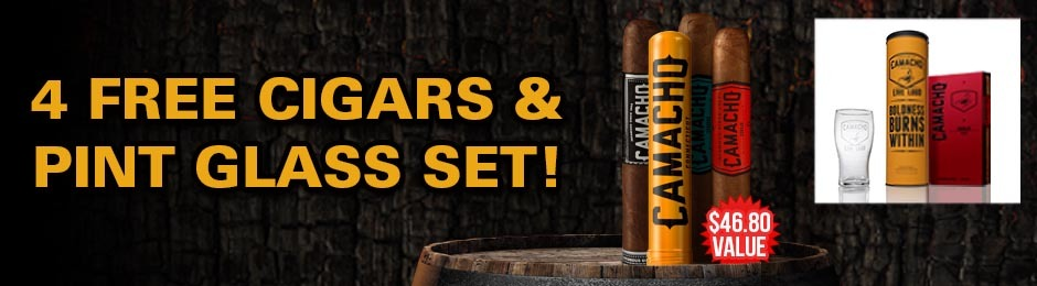 4-Pack and Pint Glass Set Free With Select Camacho Boxes!
